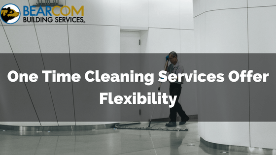 One time commerical cleaning services
